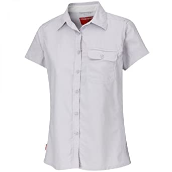 Craghoppers Nosilife Darla Short-Sleeve Shirt - Colour: Pale-Lilac, Size: 10