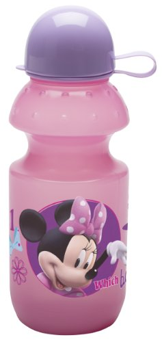 Planet Zak Minnie Mouse Water Bottle with Cap, 13-Ounce