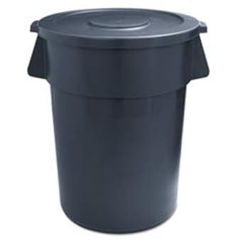 Amazon.com: UNISAN 32GLWR GRA Round Waste Receptacle
