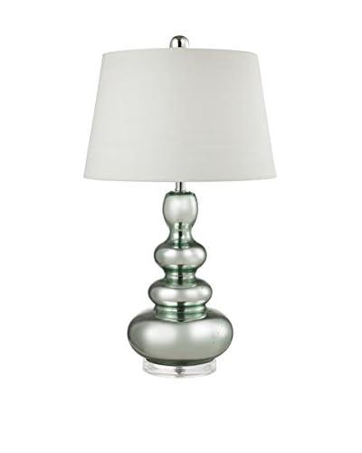 Artistic Lighting 1-Light Table Lamp, Silver Mercury/Green
