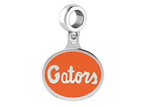Florida Gators Drop Charm Fits All European Style Beaded Charm Bracelets