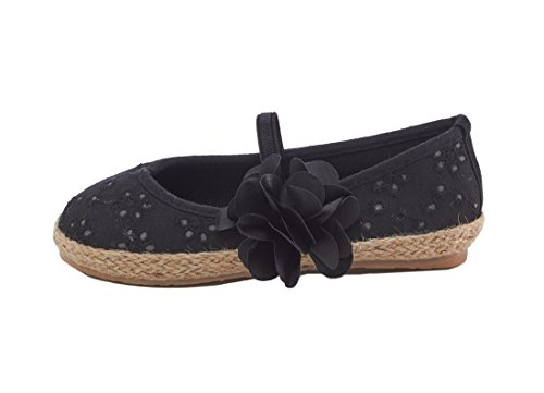 Shining Seashells Espadrille Style Girls Flats for Toddlers