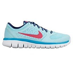 Girl\'s Nike Flex Run 2015 Running Shoe (GS) Copa/Insignia Blue/White/Vivid Pink Size 3.5 M US