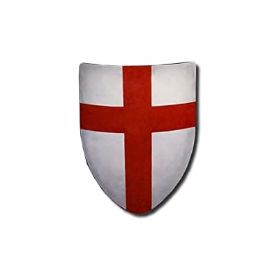 Crusades Medieval Shield - 16 Gauge Steel Battle Ready - White - One Size