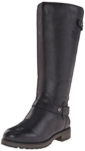 Naturalizer Women's Tanita Wide Calf Riding Boot, Black, 7.5 W US (Naturalizer Extra Wide Shoes compare prices)