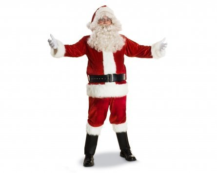Deluxe Santa Claus Suit Costume Set Adult Size 48-50 Large
