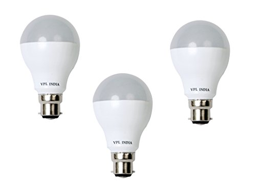 7W Cool Day Light LED Bulb (Pack of 3)