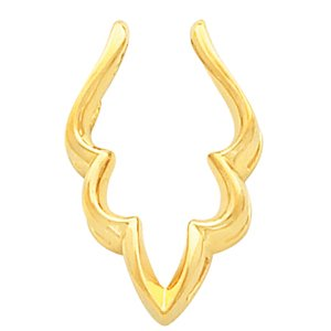14k Yellow Gold Pendant Enhancer - JewelryWeb