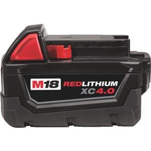 Milwaukee (48-11-1840) OEM Seald Package : (1) M18 REDLITHIUM XC 4.0 Ah Extended Capacity Battery Pack