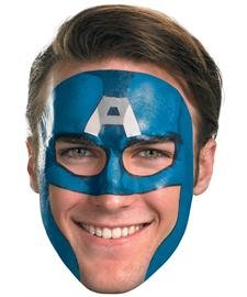 Captain America Face Tattoo Mask