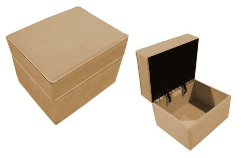 Newco International 01412 Storage Ottoman Tan Micro