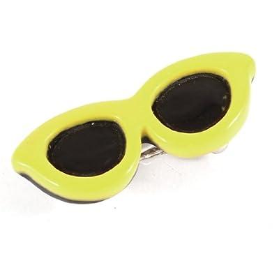 Black Yellow Plastic Sunglasses Design Pets Barrette Grooming Clip