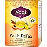 Yogi Tea Peach Detox, Herbal Supplement, Tea Bags, 16 ct