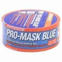 "Intertape 9532-1.5 1-1/2"" x 180' Pro-Mask 14 Day Clean Release Masking Tape, Blue"