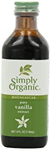 Simply Organic Pure Vanilla Extract Certified Organic, 4-Ounce Glass Bottle