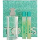 Tous By Tous Gift Set For Women Edt Spray 1.7 Oz & Body Lotion .5 Oz & Shower Gel .5 Oz
