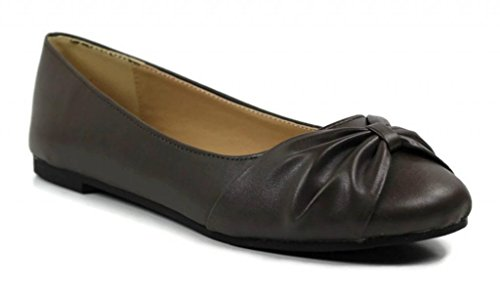 Max Collection Women'S Knotted Bow Fendy Ballet Flats 7