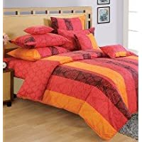 Swayam Shades Of Paradise Printed Cotton Single AC Comforter - Red (ACS 11-1303)