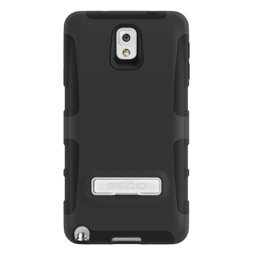 Seidio DILEX Extended Case with Metal Kickstand for Samsung Galaxy Note 3 (Needs Seidio Innocell 4800mAh Extended Battery Installed) - Retail Packaging - Black (Samsung Note 3 Platinum Case compare prices)