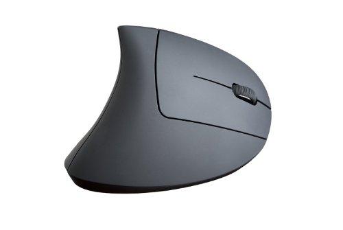 SHARKK Mouse ergonomico verticale 2,4 GHz Mouse di monitoraggio ottico senza fili per computer e laptop