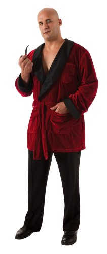 Secret Wishes Men's Playboy Smoking Jacket with Belt and Pipe Costume