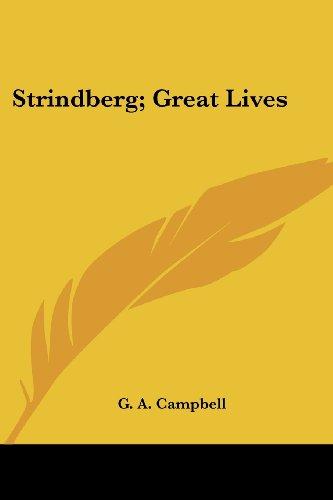 Strindberg; Great Lives