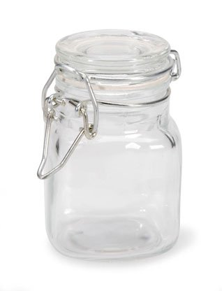 Small Glass Jars with Locking Cannister Style Lids - 3