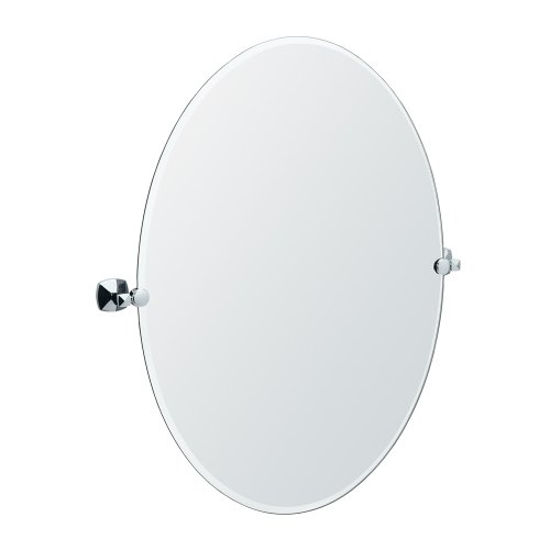 Gatco 4149Lg Jewel Large Oval Mirror, Chrome front-860889