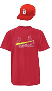 St Louis Cardinals Combo Youth Large Jersey & Youth Cap by Authentic Sports