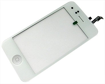 Apple iPhone 3GS White Replacement Glass Screen Digitizer + Home Button w/ 3M Adhesive Lens Cover Tape