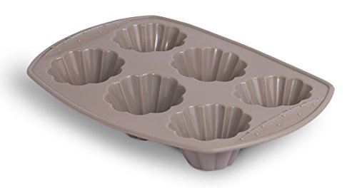 Internet's Best Silicone Decorative Cake Mold | 6 Cup | Cupcake Tray | Cake Baking Mold | BPA Free | Dishwasher Safe