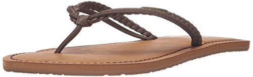 Volcom Women's Tour Dress Sandal, Brown, 7 W US