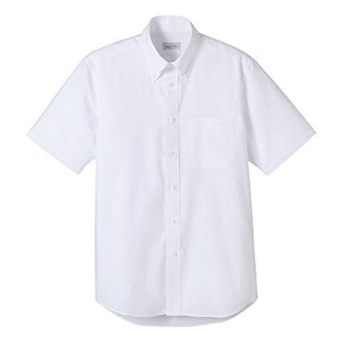 (フェイスミックス)FACEMIX オックスフォード半袖シャツ FB4511U 15 ホワイト L