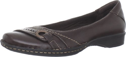Clarks Women's Recent Dutchess Ballet Flat,Dark Brown,8.5