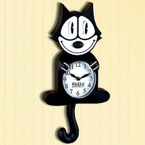 FELIX THE CAT ANIMATED CLOCK