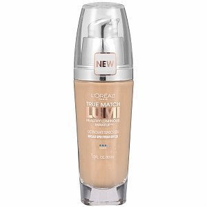L'Oreal True Match Lumi Healthy Luminous Makeup SPF 20, Shell Beige (Pack of 2)
