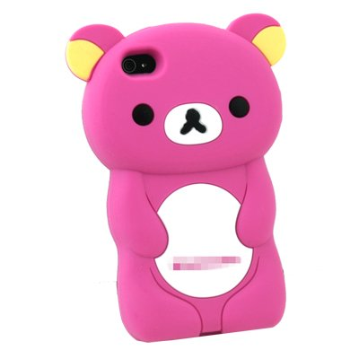 Apple iPhone 4S Rilakkuma: 3-D Case in Hot Pink