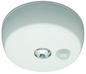 Mr. Beams MB 980 Battery-Operated Indoor/Outdoor Motion-Sensing LED Ceiling Light, White