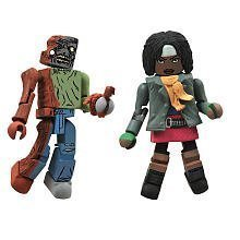 Walking Dead Minimates - Michonne and One-Eyed Zombie - 1