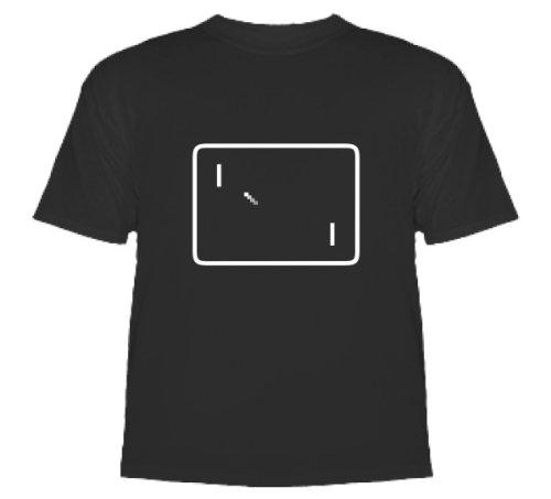 Pong (Retro Video Game) T-Shirt High Quality T-Shirt Black Small