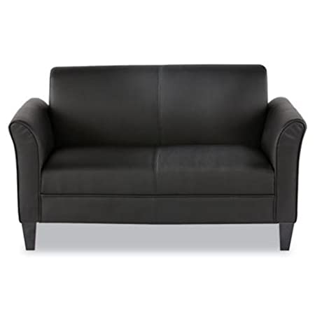 Alera RL22LS10B Reception Lounge Furniture, 2-Cushion Loveseat, 55-1/2w x 31-1/2d x 32h, Black