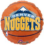 "Anagram International Denver Nuggets Flat Party Balloons, 18"", Multicolor"