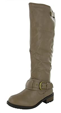Qupid Hot Fashion Relax 39 Women's Boots Faux Leather Knee High Brown Size 5.5