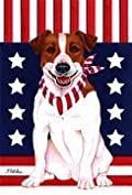 Jack Russell Terrier - by Tomoyo Pitcher, Patriotic Themed Dog Breed Flags 12 x 18