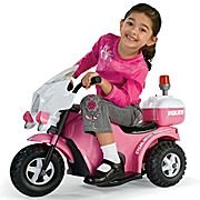 My 1St Police Bike Electric Ride-On Girls Pink