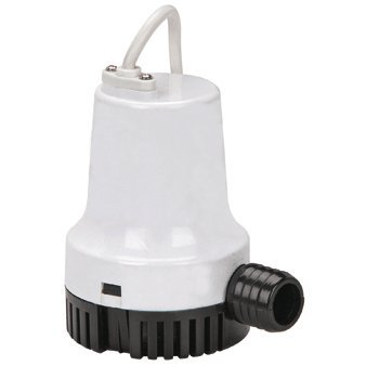 1000 GPH 12V Bilge Pump Fully Submersible, 13 feet Lift