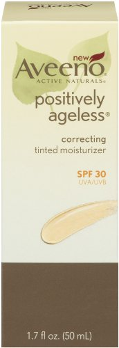 Aveeno Positively Ageless Correcting Tinted Moisturizer SPF 30, 1.7 Ounce