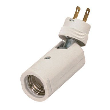 Satco 77-622 Flexible Light Socket Electrical Outlet Adaptor