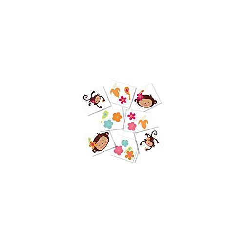 Floral Monkey Tattoos (each)