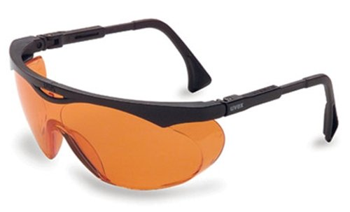 Uvex S1933X Skyper Safety Eyewear, Black Frame, SCT-Orange UV Extreme Anti-Fog Lens